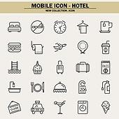 벡터파일 (일러스트), 아이콘, 아이콘세트 (아이콘), 모바일아이콘, 웹아이콘, 픽토그램, 라인아이콘, 단순 (컨셉), 호텔, 여행, 휴가, 호텔 (공공건물), 휴식, 예매 (움직이는활동), 여행자 (역할)