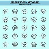 벡터파일 (일러스트), 아이콘, 아이콘세트 (아이콘), 모바일아이콘, 웹아이콘, 픽토그램, 라인아이콘, 단순 (컨셉), 컴퓨터네트워크 (컴퓨터장비), 4G, 5G, 클라우드컴퓨팅 (인터넷), 자료 (정보매체), 네트워크보안