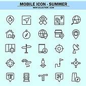 벡터파일 (일러스트), 아이콘, 아이콘세트 (아이콘), 모바일아이콘, 웹아이콘, 픽토그램, 라인아이콘, 단순 (컨셉), 여름, 휴가, 휴가 (주제), 상업이벤트 (사건), 여행자 (역할)