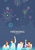 벡터파일 (일러스트), 여름, 음악축제 (엔터테인먼트이벤트), 전통축제 (홀리데이), 불꽃 (인조물건), 불꽃놀이 (엔터테인먼트이벤트)