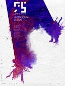 편집디자인, 합성, 포스터, 캘리그래피 (문자), 먹, 번짐, 잉크, 레이아웃, 책표지 (주제), 재질 (물체묘사)
