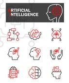 아이콘, 아이콘세트 (아이콘), 라인아이콘, 4차산업혁명 (산업혁명), AI, 벡터파일 (일러스트), 로봇, 뇌 (인체내부기관), 반도체, 빅데이터, 산업, 기술, 자료 (정보매체), 공학 (산업)