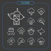 아이콘, 아이콘세트 (아이콘), 라인아이콘, 클라우드컴퓨팅 (인터넷), 비즈니스, 인터넷, 4차산업혁명 (산업혁명), 자료 (정보매체), 네트워크서버 (컴퓨터네트워크), 컴퓨터네트워크 (컴퓨터장비), 5G