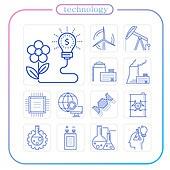 아이콘, 아이콘세트 (아이콘), 라인아이콘, 4차산업혁명 (산업혁명), 네트워크서버 (컴퓨터네트워크), 컴퓨터네트워크 (컴퓨터장비), 5G, 생명공학 (생물학), 인공지능, 원자 (입자), 기술 (과학과기술), 뇌 (인체내부기관), 과학과기술