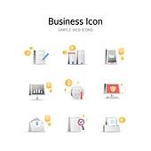 아이콘, 아이콘세트 (아이콘), 입체아이콘, 비즈니스, 회사건물 (건물외관), 서류, 건물외관 (건설물), 자료 (정보매체)