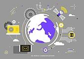 컴퓨터네트워크 (컴퓨터장비), 인터넷, 5G, 기술, 휴대폰 (전화기), 스마트폰, 태엽, 지구 (행성), 위성 (우주여행교통수단)