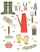 원예 (레크리에이션), 홈가드닝, 원예장비 (장비), 취미, 식물, 원예장갑, 원예가위, 장화 (부츠), 물뿌리개