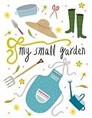 원예 (레크리에이션), 홈가드닝, 원예장비 (장비), 취미, 식물, 밀짚모자, 장화 (부츠), 물뿌리개