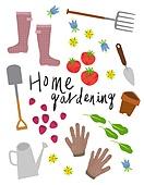 원예 (레크리에이션), 홈가드닝, 원예장비 (장비), 취미, 식물, 장화 (부츠), 토마토, 원예장갑, 꽃