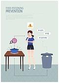 식중독, 질병, 여름, 캠페인, 해시태그, 라이프스타일, 바이러스, 위생, 깨끗함 (좋은상태)