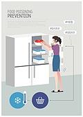 식중독, 질병, 여름, 캠페인, 해시태그, 라이프스타일, 바이러스, 위생, 깨끗함 (좋은상태), 냉장고