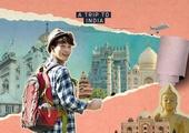 여행, 배낭여행자 (여행하기), 해외, 휴가, 휴식 (정지활동), 콜라주 (이미지테크닉), 인도 (인도아대륙), 랜드마크