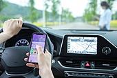 스마트폰, 운전, 자동차, 위험