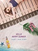 여름, 해변, 휴가, 수영복, 백그라운드, 모래톱 (해안), 탑앵글, 비키니