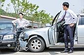 도로, 자동차, 사고, 교통사고, 파괴 (컨셉), 걱정 (어두운표정), 충돌사고, 시비