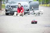 교통, 교통사고, 위험, 자전거, 안전, 신체손상 (건강이상), 고통 (컨셉)