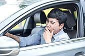 운전, 운전사, 잠 (휴식), 위험, 하품, 피로 (물체묘사)