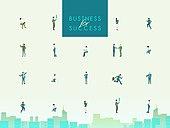 사람 (All People), 비즈니스, 성공, 직업, 여러명[10이상] (사람들), 도시, 고층빌딩 (회사건물)