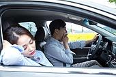자동차, 운전, 운전사 (운송직업), 잠 (휴식), 피로 (물체묘사), 위험, 하품