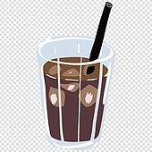 파워포인트 (이미지), PNG, 누끼 (컷아웃), 누끼, 일러스트, 음식, 아이스커피