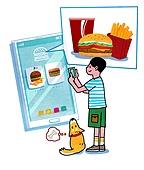 배달음식, 배달, 라이프스타일, 스마트폰, 모바일어플리케이션 (인터넷), 배달 (일), 패스트푸드 (테이크아웃), 햄버거