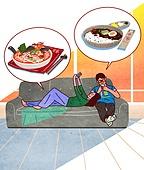 배달음식, 배달, 라이프스타일, 스마트폰, 모바일어플리케이션 (인터넷), 배달 (일), 자장면, 짬뽕, 중국음식 (아시아음식), 커플