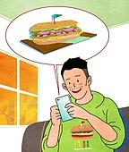 배달음식, 배달, 라이프스타일, 스마트폰, 모바일어플리케이션 (인터넷), 배달 (일), 혼밥, 샌드위치
