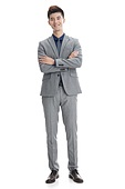 Confident business young man