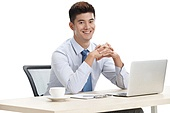 Business young men in office