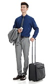 Young men business travel
