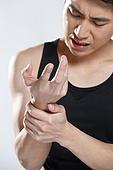 Young men wrist pain