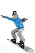 Young men ski