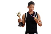 Athletes win medals and trophies