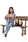 College students reading books