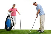 Middle-aged couples to play golf