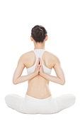 Young girls do yoga