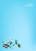 일러스트, 벡터파일 (일러스트), 비즈니스, 캐릭터, 비즈니스 (주제), 미니멀 (구도), 카피스페이스 (구도), 비즈니스미팅 (미팅), 토론, 그래프, 군중 (사람들)
