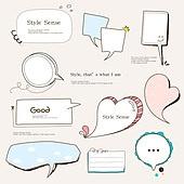 일러스트, 웹템플릿, 말풍선, 디자인엘리먼트 (유저인터페이스), 드로잉작품 (미술품), 도형, 프레임, 라벨 (메시지), 이모티콘