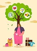 임신, 탄생 (의료행위), 출산준비 (의료행위), 출산준비, 노산, 여성, 임신 (물체묘사), 나무, 선물 (인조물건)