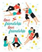 사람, 라이프스타일, 패턴, 커플, 사랑 (컨셉), 꽃, 데이트