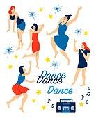 사람, 라이프스타일, 패턴, 춤, 음악, 대형휴대용카세트 (휴대용스테레오), 즐거움