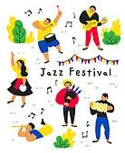 사람, 라이프스타일, 패턴, 재즈, 음악축제 (엔터테인먼트이벤트), 음악가 (엔터테인먼트직업), 악기