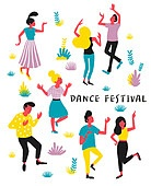사람, 라이프스타일, 패턴, 음악축제 (엔터테인먼트이벤트), 춤, 즐거움