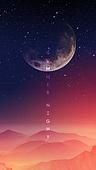 백그라운드, 밤 (시간대), 하늘, 야경, 환상 (컨셉), 포스터, 별 (우주), 달 (하늘), 컬러풀