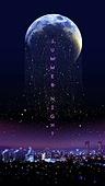 백그라운드, 밤 (시간대), 하늘, 야경, 환상 (컨셉), 포스터, 별 (우주), 달 (하늘), 반짝임, 유성 (우주)