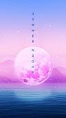백그라운드, 밤 (시간대), 하늘, 야경, 환상 (컨셉), 포스터, 별 (우주), 달 (하늘), 컬러풀, 강