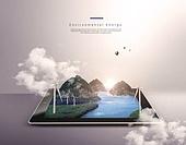 첨단기술 (기술), 스마트기기 (정보장비), 디지털태블릿 (개인용컴퓨터), 기술, 대체에너지, 연료와전력발전, 환경보호 (환경)