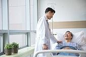 병원, 병실, 의사, 환자, 진찰 (의료행위), 향상 (컨셉), 미소