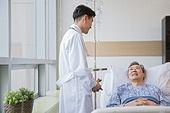 병원, 병실, 의사, 환자, 진찰 (의료행위), 위로, 미소