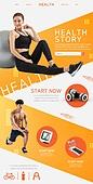웹템플릿, 메인페이지 (이미지), 웹사이트 (유저인터페이스), 운동, 웨이트트레이닝 (근육강화운동), 다이어트, 건강관리 (주제), 남성, 여성, 헬스클럽 (레저시설), 체육관 (레저시설), 운동기구, 레이아웃